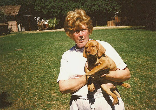 Marge Mehagian with Puppy
